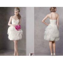 Vestido De Noiva Curto Vera Wang Off White Perolas Cristal