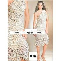 Lindo Vestido Ombro Único Em Crochê - Charme De Mulher