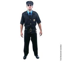 Fantasia Policial Masculino Adulto Sulamer Tam. P ( 38 A 40)