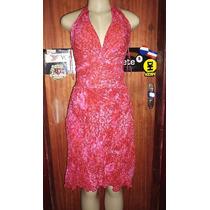 Vestido Importado Crepe De Seda M.n.g Estampa Tamanho M