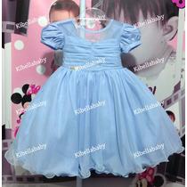 Vestido Infantil Princesa/ Cinderela Tam 1 Ao 3