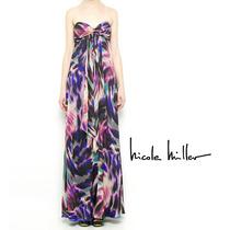 Vestido Festa Seda Nicolle Miller Maxi Dress 12 X Sem Juros