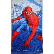 Toalha Toalhinha Lancheira Mao Aveludada Homem Aranha Spider