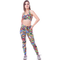 Kit 10 Conjunto Fitness Legging + Top Suplex, Atacado