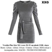 Vestido Tamanho Grande Plus Size Especial Vazado Xg Gg