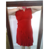 Elegante E Sexy Vestido Vermelho Viscose Da Marisa Tam P