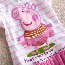 Vestido Peppa Pig Bailarina - Pronta Entrega!!!