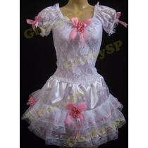 Vestido Noiva Junino Adulto Festa Junina Roupa Caipira