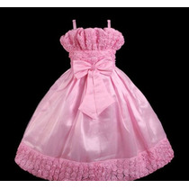 Vestido Infantil Festa/princesa/daminha Flores De Fita