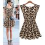 Pronta Entreg Vestido Oncinha Leopardo Frete Grátis Vestidos