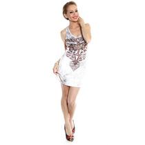 Vestido Com Detalhes Em Pedras Estilo Ed Hardy - Ref. 1023