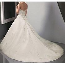 Vestido De Noiva Com Cauda - Manequins 38 A 44