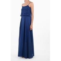 Vestido Longo Cantão Azul