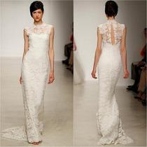 Vestido P Importado Longo Noiva Clássico Elegante Em Renda