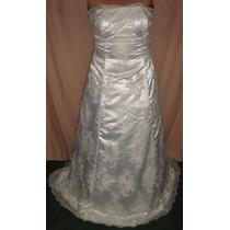 Vestido De Noiva Renda Francesa C/ Vidrilhos Bordados À Mão
