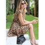 Vestido Chiffon Onça Oncinha Leopardo Tigresa - Importado