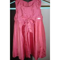 Vestido Infantil Tafetá Rosa - Menina - Tamanho 4 - Festa