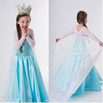 Fantasia Vestido Elsa Anna, Frozen. T. 2a11. Frete Gratis!