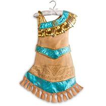 Vestido Pocahontas Disney Store Oficial 5-6 Anos Lançamento