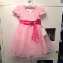 Vestido De Princesa Rosa Claro - Importado - Tam: 3 E 6