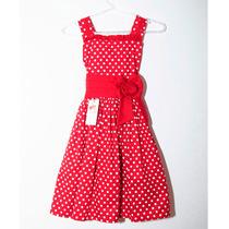 Vestido De Festa Infantil Minnie Vermelho De Poá Branco