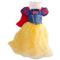 Fantasia Princesa Branca De Neve Disney Original Tam 5/6,7/8