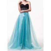 Vestido Longo De Festa Azul Tiffany Manequim 36/38