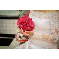 Vestido De Noiva De Renda Com Cetim