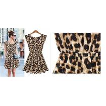 Vestido Chiffon Onça / Leopardo - Pronta Entrega