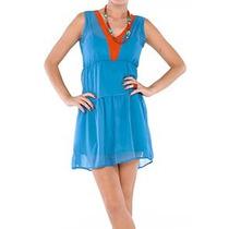 Vestido Em Seda Pura Azul Turquesa - Marca Belle & Bei