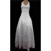 Vestido De Noiva Evasê Com Bordado Em Strass