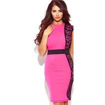 Vestido Pink Com Estampa Floral Importado Pronta Entrega