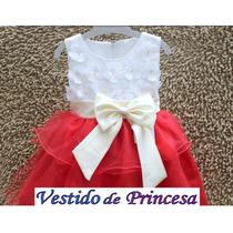 Vestido Festa Infantil Daminha 2 4 Pronta Entrega