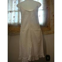 Vestido Saida De Praia Bordado Branco Tam. 40 Renda