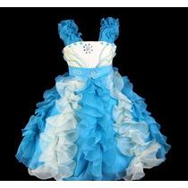 Vestido Infantil/festa/daminha Princesa 2 Cores Lindo!