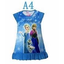 Vestido Frozen Princesas Ana / Elsa Importado Tam 5