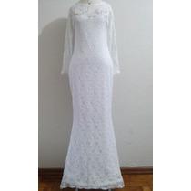 Lindo Vestido De Noiva Sereia Em Renda Nobre Novo, De Ateliê