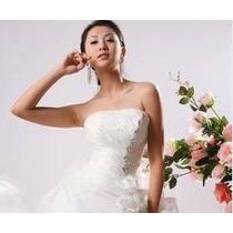 Casamento Vestido De Noiva Branco Importado Ultimo Pç Unica