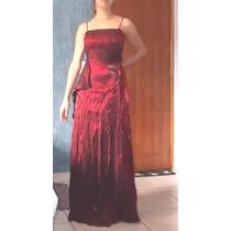 Promoção Vestido De Festa Vermelho Com Echarpe, Foto Em Hd