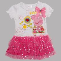 Vestido Peppa Pig Tutu Princesa Pronta Entrega