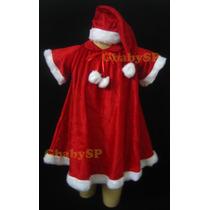 Roupa Vestido Fantasia Mamãe Noel Infantil - Noelete - Natal