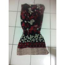 Vestido Floral Curto Tipo Kaftan :marca Sisley