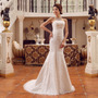 Lindo Vestido Sereia P/ Noiva Renda Cetim Casamento Nobrasil