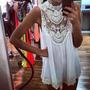 Vestido Branco Renda Verão Curto Praia Carnaval