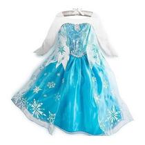 Vestido Fantasia Infantil Elsa Frozen Disney Pronta Entrega