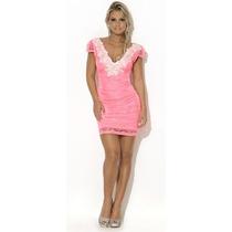 Vestido Pink Lace Princess Max Glamm Ref 77008 - Promoção