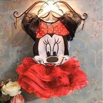 Conjunto Saia + Blusa Da Minnie