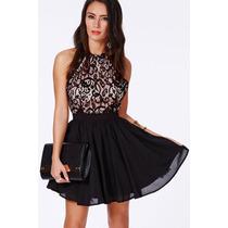 Vestido Em Renda Moda 2014 Importado C Frete Gratis