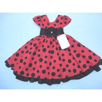 Vestido Infantil Festa Minnie Baby Bolinhas 1 Ano