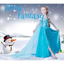 Vestido Frozen Elsa Infantil - Fantasia - Pronta Entrega